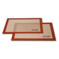 Kundenspezifische, nicht klebrige, mit Silikon beschichtete Glasfaser-Silikon-beschichtete Backmatte