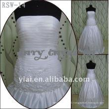 RSW-14 2011 Hot Sell New Design Ladies Fashionable Elegant Customized With Jacket Beautiful Lace Real Bridal Dress
