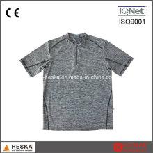 Pulôver redonda Melange cor Mens T-Shirt