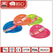Colorful heart shape Plastic plate