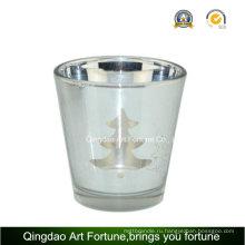 Гальваника Лазерное стекло подсвечник для рождественских украшений