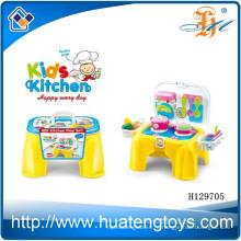 Симпатичные игрушки дизайн кухни, дешевые пластиковые дети кухня набор игрушка H129705