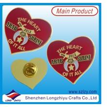 Custom Heart Shape Lapel Pin with Hard Enamel (LZY-10000287)