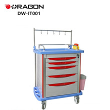 DW-IT001 infusion medicine trolley with drawers for medical equipments