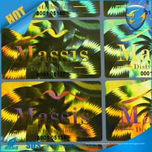 Precio de fábrica impresión láser guirnalda efecto holograma etiqueta engomada reflectante arco iris