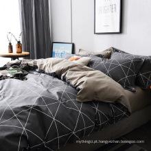 conjunto de cama impresso pigmento