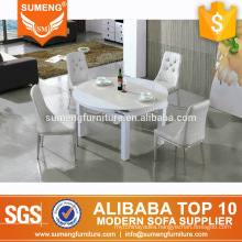 SUMENG latest design round shape marble top dining table set