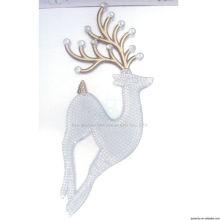 10cm Gold Plastik Innen Weihnachtsdekoration Rentier