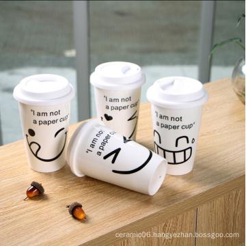 New arrival 2016 stoneware colorful full printing starbuck mug