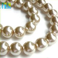 Nachgemachte glatte Oberfläche Glasperle tschechische runde lose Perlen