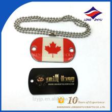 Panneau de pays personnalisé étiquette de chien epoxy brillant plaqué argent
