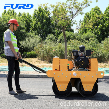 Double Drum Driving Manual Vibratory Diesel Road Roller