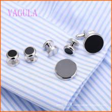 VAGULA Fashion New Design plaqué or Gemelos cuivre boutons de manchette ensembles