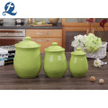 Großhandel Custom Green Ceramic Food Storage Kanister