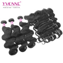 Onda do corpo Brazilian Lace Frontal com Bundles
