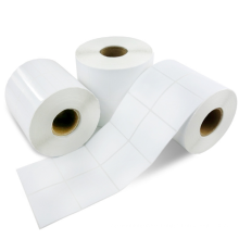 NX241 Thermal Adhesive Sticker Label Paper Roll for Barcode Logistics Shipping Printing label rolls