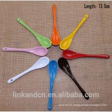 Haonai Colorful long ceramic spoon, ceramic coffee spoon