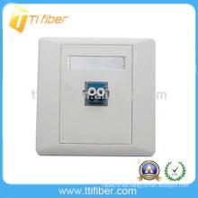 Placa Frontal / placa de pared LC de fibra óptica LC de un solo puerto