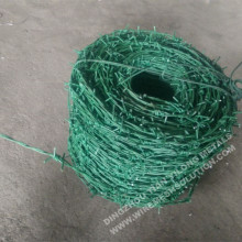 14 gGreen PVC Coated Barbed Wire