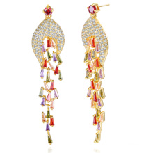 zhefan mini order Jewelry manufacturer earring fancy designer earring with gold plated