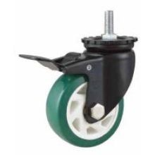 Mh1 Med -Duty type Double roulement à billes Type de frein à tige Routeur à roue PU vert (KMHX5-MH1)
