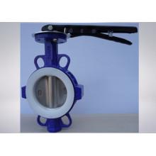 Válvula de mariposa de hierro dúctil de agua marina