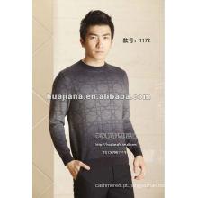 Suéter luxuoso para homem de cashmere