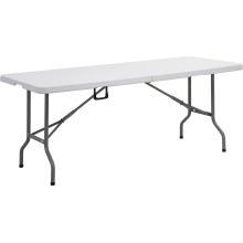 Tabela de plástico plástica 6FT, mesa de acampamento, mesa de jantar