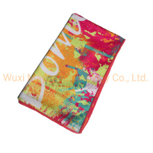 Microfiber Sand Free Fast Drying Beach Hand Bath Towel, Dyed Printed Embroidered Travel Sports Cheering Towel