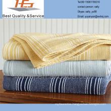 100 cotton yarn dyed cotton leno blanket