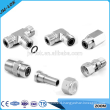 Steel elbow union compression tube fitting