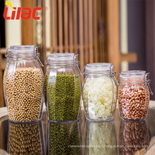 Lilac FREE Sample wide mouth glass bottles jars