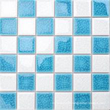 Australia Style Apartment Bathroom Decorative Ceramic Blue White Mosaic Tile