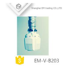 EM-V-B203 PP White Brass Thermostatic Radiator Valve head