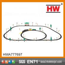 Interessante slot ferroviária set track car