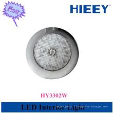 12V conduit lampe d'intérieur lampe de plafond ronde intérieure plafonnière pour l'utilisation de la remorque