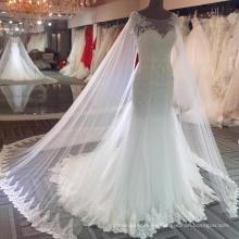 Vestido de novia de sirena sexy con hombros descubiertos 2018