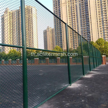 สนามกีฬา Green PVC Chain Link Fence