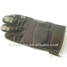 Leather black working gloves