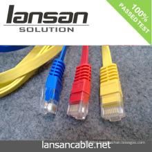 LANSAN Professional High Speed flat cat6 ftp patch cord PVC/LSOH ETL/UL/ROHS/ANATEL