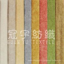 Sofá de tela de lino de poliéster para textiles para el hogar