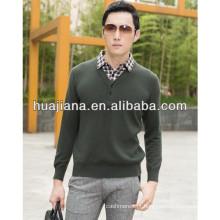 homens de moda calças de cashmere de inverno coleira de camisa