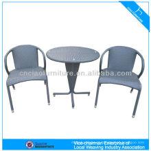 Lazer jardim rattan mesa de café e cadeira de móveis