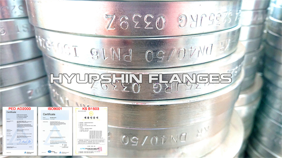 Hyupshin Flanges Iso9624 Lap Joint Loose Flanges Cold Galv
