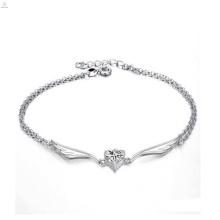 Bijoux à la mode de haute qualité en argent sterling cheville bracelet antique argent cheville