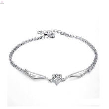 Модные ювелирные изделия высокое качество стерлингового серебра лодыжки браслет антикварные серебряные браслеты
