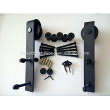 Ferragem da porta deslizante preta para porta deslizante elegante