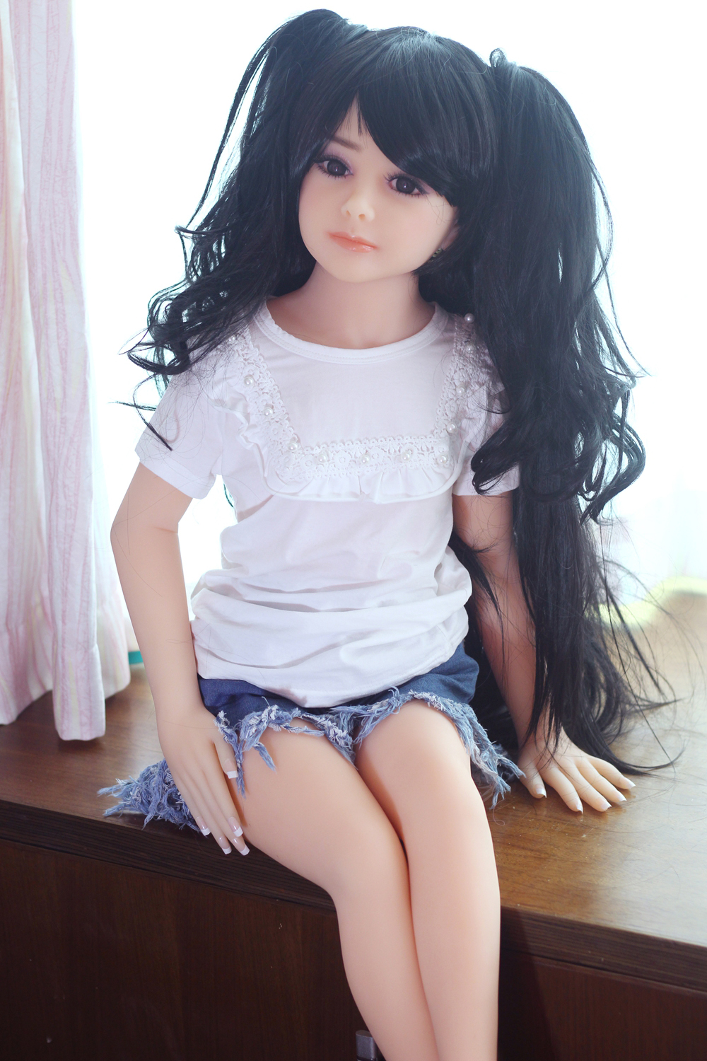 flat chest japanese small doll