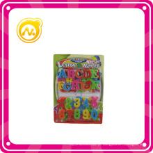 Plástico educativo letras / números magnéticos inteligência do brinquedo
