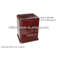 solid mahogany wooden ceramic cremation urn pet adult